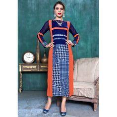 INDIAN RAG Pure Georgette Printed Long Kurti