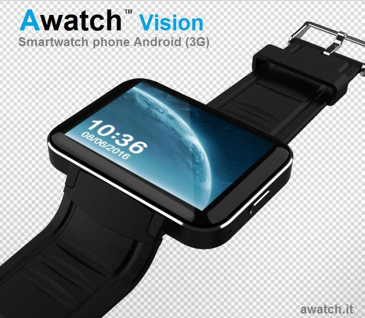 """""""Awatch Vision"""" Smartwatch phone Android 3G, 2 inch display  www.awatch.it"""