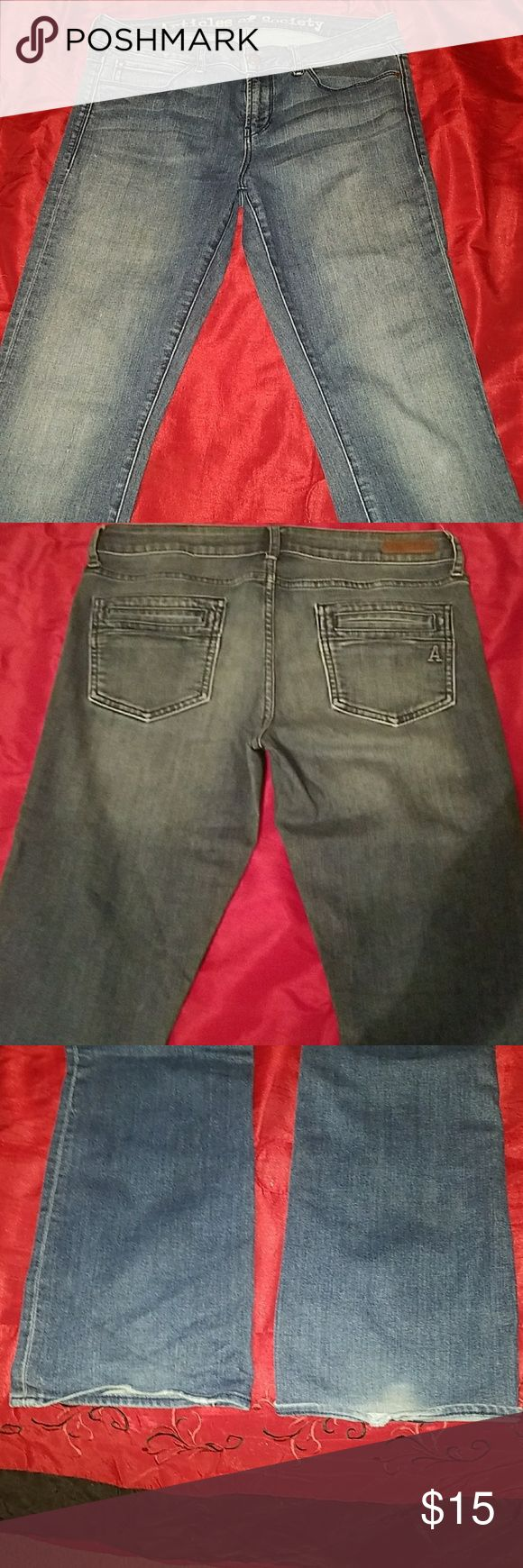 """Articles of Society jeans I don't know much about this brand. These were bought from another Posher. These jeans are so soft, but I'm too curvy for this style. See last picture for signs of wear, but otherwise great condition. Rise 8"""", inseam 32"""" Articles Of Society Jeans Boot Cut"""