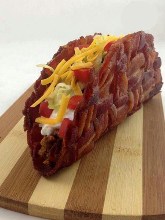 Bacon taco shell...borderline disturbing