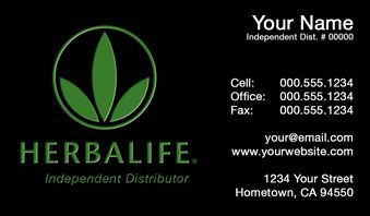 Herbalife business cards templates available at for Herbalife business card templates