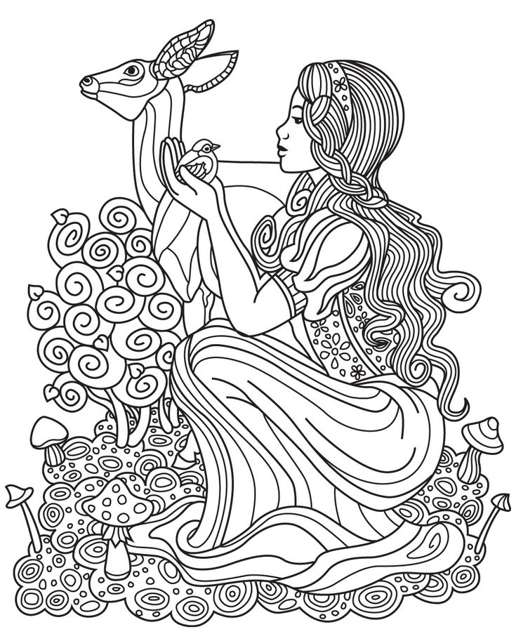 781 best Fantasy Coloring Pages for Adults images on