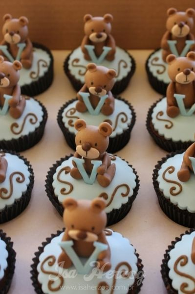 teddy bear cupcakes                                                                                                                                                                                 Mais