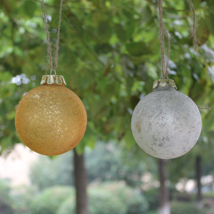 outdoor wedding gold baubles - Google Search