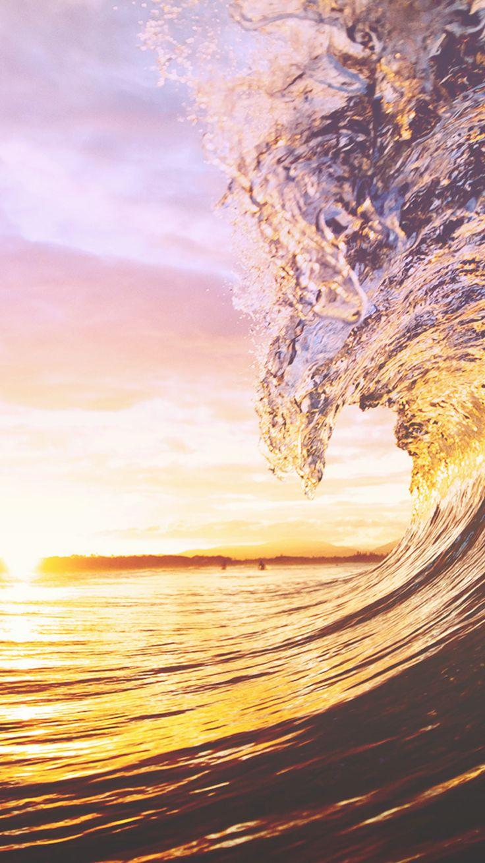 ocean wave sunset | iPhone wallpapers