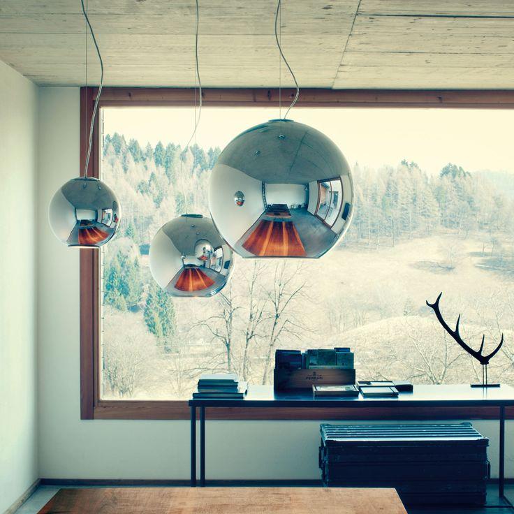 Fontana Arte's classic suspension lamp Globo di Luce http://www.wkworks.com/category/manufacturer/fontana-arte