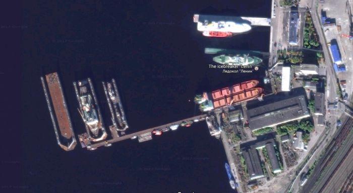 La cale sèche du chantier naval 35 SRZ. Photo@Google Earth