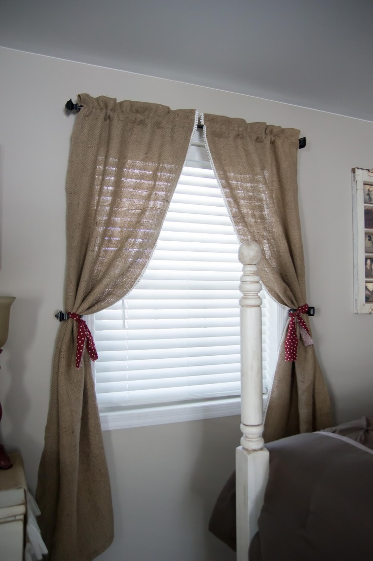 Burlap Curtains | Creating with Burlap | Pinterest ...