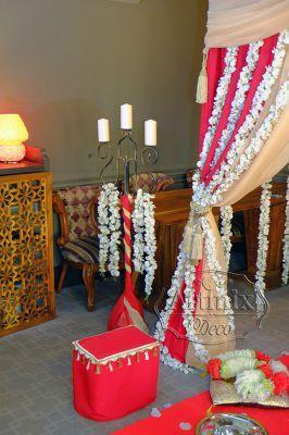 Свадебное оформление зала в индийском стиле подразумевает роскошные детали