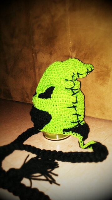 Rylan would love this...for winter!!!Crocheted Oogie Boogie the boogie man from The by marchasnare, $25.00