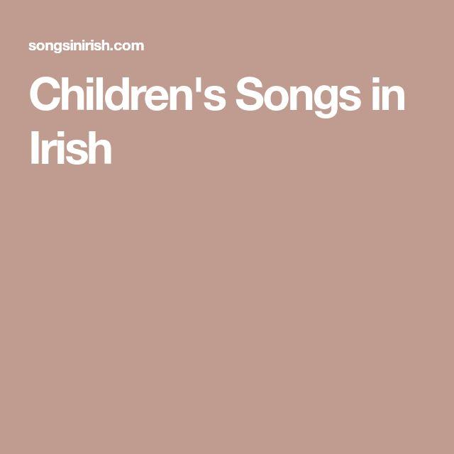 Children's Songs in Irish