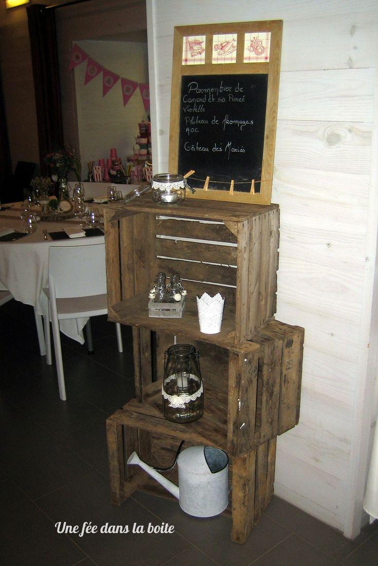 mariage campagne chic pr sentation du menu les jolis mariage d 39 une f e dans la boite pinterest. Black Bedroom Furniture Sets. Home Design Ideas