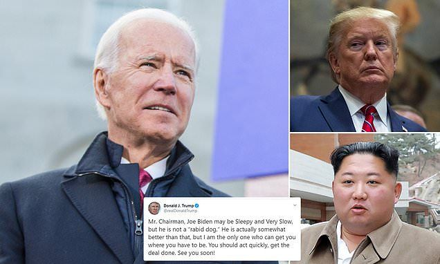 Trump Defends Joe Biden After Kim Jong Un Called Him A Rabid Dog