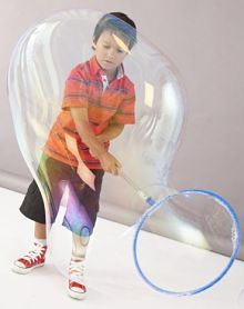 Bubble activities for toddlers
