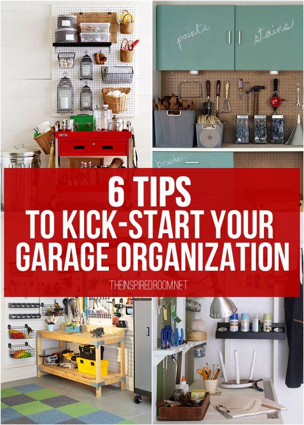 Garage organization tips and inspiration photos!
