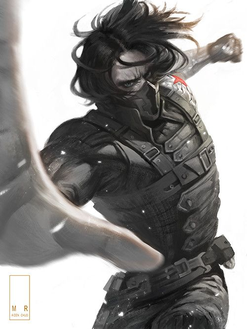 The Winter Soldier, AIDEN CHUO on ArtStation at https://www.artstation.com/artwork/XP8yy