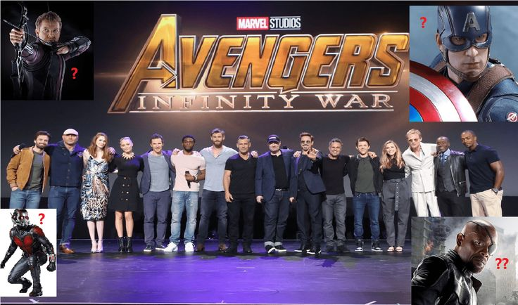 The Marvel has assembled Avengers at D23 EXPO 2017.  It has full cast gathered together but some stars were missing. are they not coming in infinity war part 1 or they died at civil war?  As you can see four big heroes are missing. Are they died or left Marvel in Marvel cinematic universe?  Captain America HawkEye Nick Fury Antman