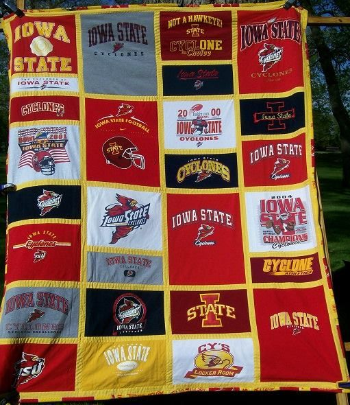 Iowa State Cyclone quilt.  From quiltkeepsake.com, Humboldt Iowa
