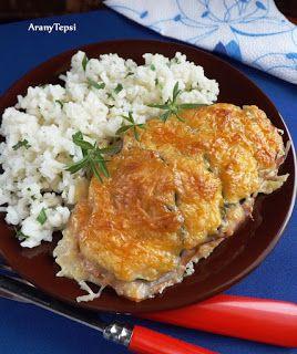 AranyTepsi: Sajtos-sonkás-cukkinis csirkeszelet