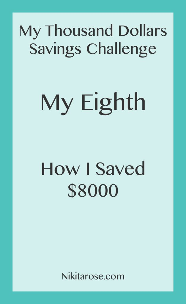 My Eight Thousand Dollars Challenge. Save and Invest Grow Wealth One Thousand Dollars at a time. Becoming a Money Boss.