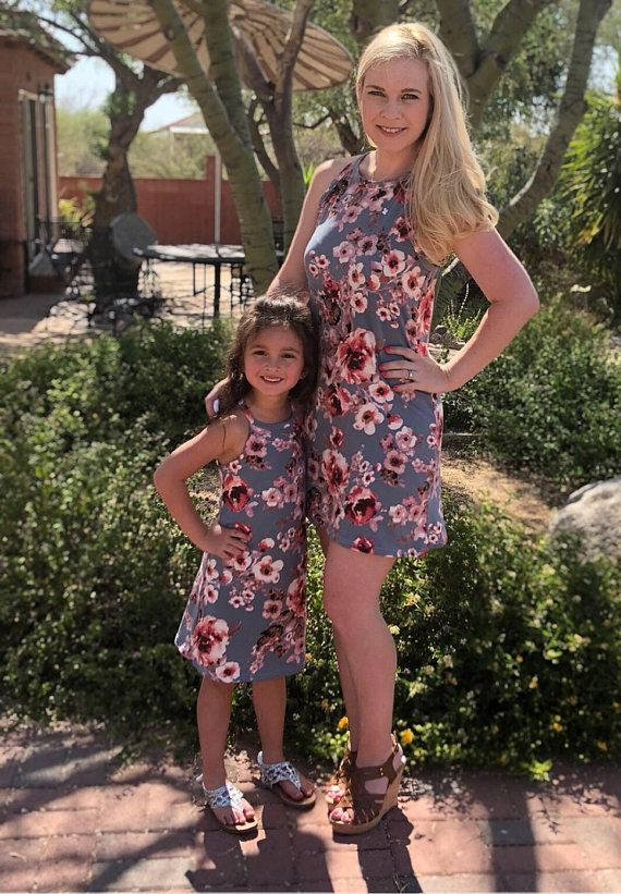 83ce8c4127676 Mommy and Me Dress - Mother and Daughter Matching Dress - Mommy and Me  Dresses- Matching Summer Dresses