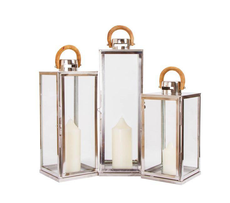 Lanterne inox quadrate con manico in legno. Preludio Noleggio, allestimenti per eventi e matrimoni, novità 2016/2017, wedding inspiration.