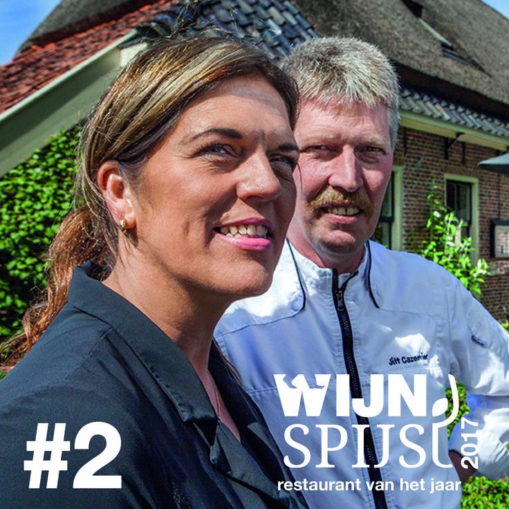 Wijn Spijs Restaurant van het Jaar 2017   Op no. 2 De Vlindertuin in Zuidlaren