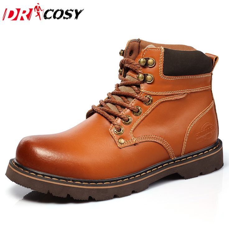 New Arrival High Quality Genuine Leather Martin Boots Fur Warm Martin Shoes Fashion Men Boots Ankle Botas Men Motorcycle Boots *** AliExpress Affiliate's buyable pin. Find out more on www.aliexpress.com by clicking the image #MensWinterBoots