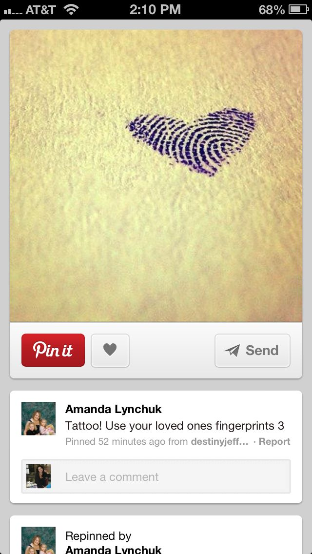 Omg i love the idea of your lovers fingerprint on you