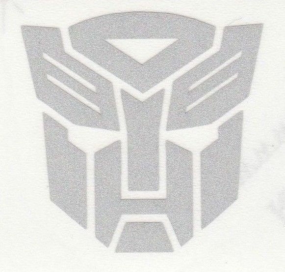 Highly reflective transformers Autobot Decal Sticker fire helmet window yeti  | eBay