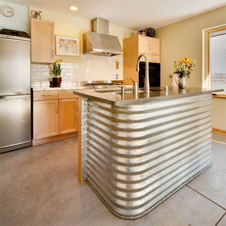 feuille bar de la cuisine en métal