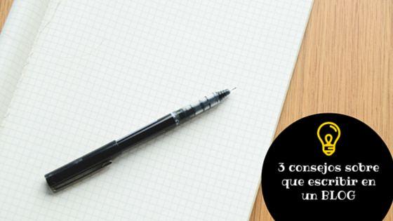 3 Consejos Para Escribir En Un Blog Muchos de vosotros nos preguntáis: 'Vale y si tengo mi propio blog, ¿qué voy a escribir? En este artículo, vamos a darte 3 consejos para escribir en un Blog. bit.ly/2gL6eQX