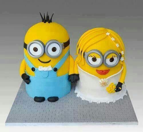 Minion D Cake Topper
