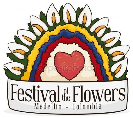 Colombian Colors in Floral Arrangement for Colombian Flowers Festival