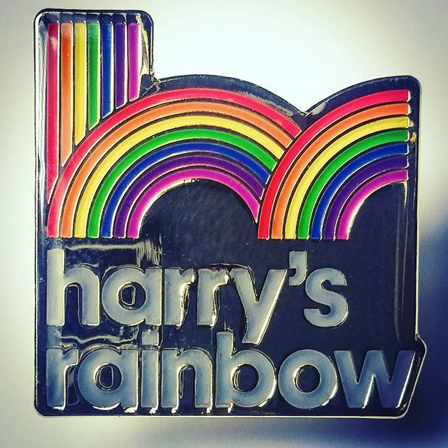 We produced these colourful #pinbadges for #harrysrainbow #enamelpins #pingame #fundraising