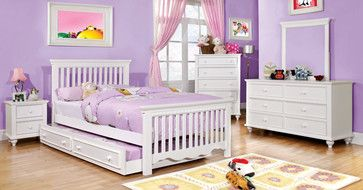 $403 Free Shipping~~ Canberra Cottage White Wood Kids Twin Platform Bed Slatted - transitional - kids beds - los angeles - furniturecheck.co...