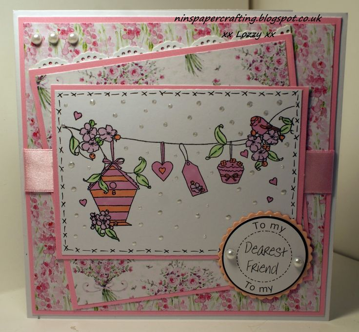 Using Little Claire stamp