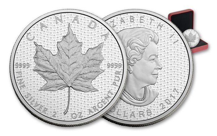 2017 Canada 10 Dollar 2-oz Silver Maple Leaf Matte Proof