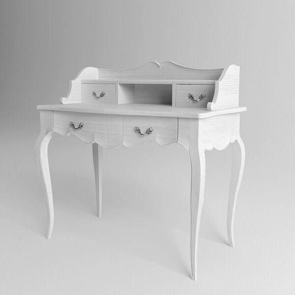 Туалетный столик Provence в стиле прованс. Артикул: DRT001. Размеры ДхШхВ: 100x53x95 см. Материал: бук. Цвет: белый