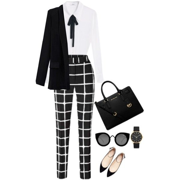 A fashion look from December 2015 featuring MANGO blouses, Zara flats and MICHAEL Michael Kors handbags. Browse and shop related looks.