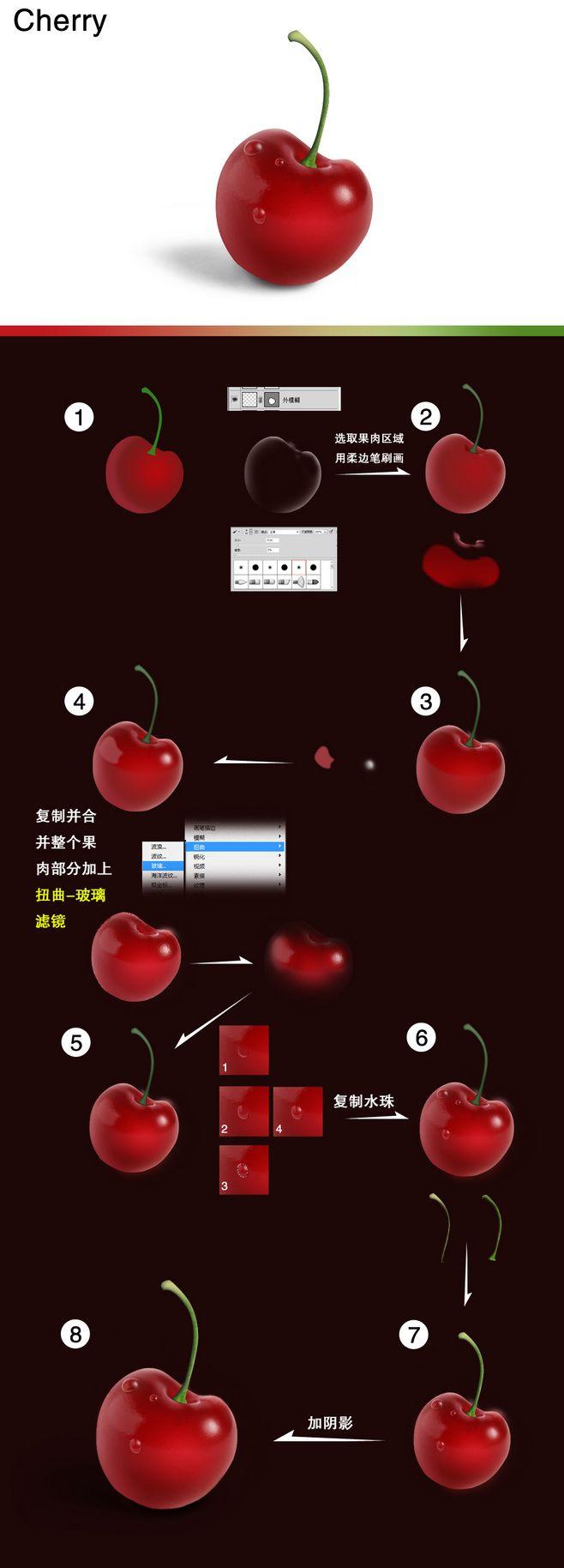 【教程】樱桃icon步骤分解 - 图形界...