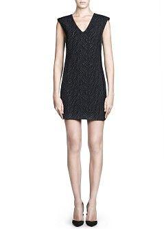 MANGO - NEW - Jacquard structured dress
