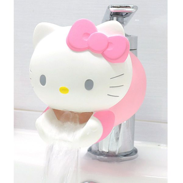 Hello Kitty Safety Faucet Child Toddler Kids Washing Aids Bathroom Tap Sink #UU