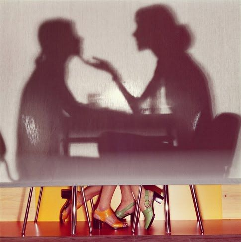 Guy Bourdin | this kinda blows my mind. composite of two image, an idea enlarged, context/backstory