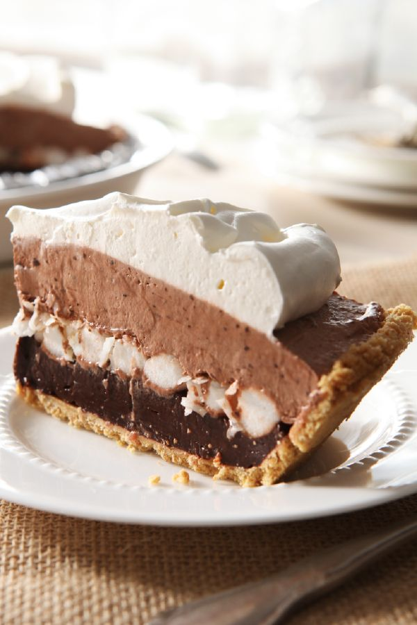 Layered Marshmallow and Chocolate Pudding Pie – This creamy chocolate pudding pie recipe is as easy to make as it is scrumptious—which is to say, very, very! Get out the marshmallows and let's get started..