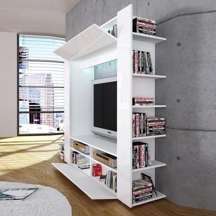 ROLLER TV-Wand OLLI - weiß Hochglanz - Möbel & Wohnen Online Shop