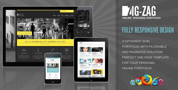 Zig Zag - Responsive WordPress Template - ThemeForest Item for Sale