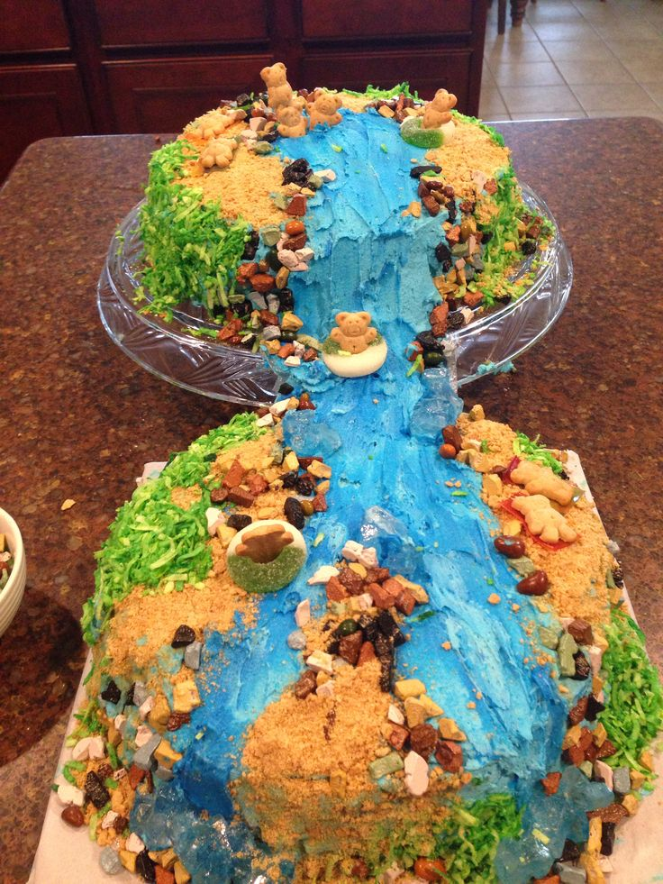 7 Best Waterfall Cakes Images On Pinterest Waterfall