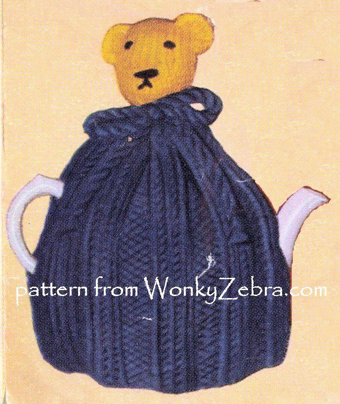 WZ892 cute teddy tea cosy.