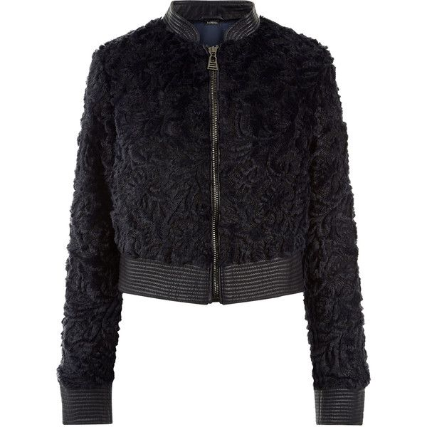 La Perla Daily Looks Z/Eco Fur Jacket (3 710 AUD) ❤ liked on Polyvore featuring outerwear, jackets, intimates, fur jacket, floral print bomber jacket, flight jackets, metallic jackets and cropped bomber jackets